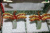 Set Of 2 Cloisaonne Dragonfly & Jade Napkin Rings