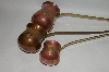 """SOLD"" Set Of 3 Vintage Copper & Brass Whiskey Scoops"