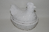 "**MBA #69-065  White Ceramic ""Chicken"" Serving Dish"