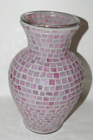 1 Of A Kind Large Pink Stained Glass Vase