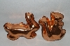 Older Set Of 2 Copper Animal Jello Molds