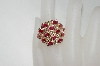 **MBA #76-031  14K Ruby & Diamond Wide Top Ring