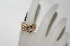 **MBA #76-104  18K Yellow Gold Morganite, Pink Spinel & Diamond Ring