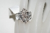 **MBA #76-089  14K White Gold Diamond Ribbon Ring