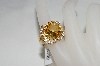 **MBA #76-073  18K Vermeil Citrine,White Zircon & Diamond Accent Ring