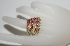 **MBA #76-103  14K Yellow Gold Pink Tourmaline & Diamond Cascading Ring