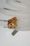 **MBA #76-084  14K Yellow Gold Citrine & Diamond Cascading Ring