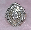**MBA #76-063  14K Yellow Gold 2.00 Ct Round & Bagutte Cut Diamond Cluster Ring