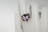 **MBA #76-094  14K Yellow Gold Celebrity Pink Topaz  & Diamond Ring