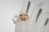 **MBA #76-126  14K Rose Gold Designer Diamond Flower Ring