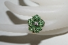**MBA #76-009  14K Yellow Gold Designer Tsavorite & Diamond Flower Ring