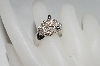 **MBA #76-015  14K White Gold Cognac & White Diamond Panther Ring