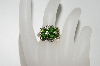 **MBA #76-135  14K Yellow Gold Chrome Diopside & Diamond Ring