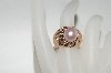 +MBA #76-113 14K Rose Gold Cultured Freshwater Pink Pearl & Diamond Ring