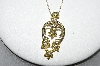 "**MBA #77-093  14K Yellow Gold 5 Flower Yellow & White Diamond Pendant With 18"" Chain"