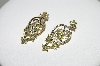 **MBA #77-094  14K Yellow Gold 5 Flower Yellow & White Diamond Pierced Earrings