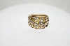 **MBA #77-010  14K Yellow Gold Yellow & White Diamond Dome Style Ring
