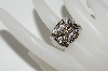 **MBA #77-062  14K White Gold Chocolate & White Diamond Ring
