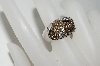 "**MBA #77-023   ""14K White Gold Chocolate & White Diamond Ring"