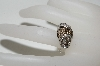 "**MBA #77-113    ""14K White Gold Fancy Cognac & White Diamond Ring"
