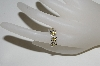 "**MBA #79-107    ""14K White Gold 4 Stone Yellow Sapphire & Diamond Ring"