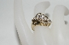 **MBA #77-059  14K Yellow Gold Round & Baguette Cut Diamond Ring