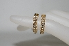 **MBA #79-114  14K Yellow Gold  Sonia Bitton Diamond Hoop Earrings