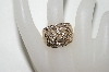 **MBA #77-032  14 K Yellow Gold Baugette & Round Cut Channel Set Diamond Ring