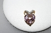 **MBA #78-272  14K Yellow Gold Celebrity Pink Topaz Diamond Heart Pendant
