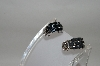"+MBA #78-075   Sterling Blue Sapphire ""Chubby Hoop"" Earrings"
