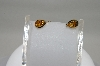 **MBA #78-079  14K Yellow Gold Pear Cut Citrine Earrings