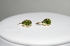 **MBA #78-086  14K Yellow Gold Pear Cut Peridot Earrings