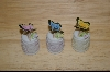 **Set Of Three Enesco Porcelain Butterfly Thimbles