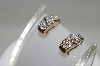 **MBA #78-025     14K Yellow Gold Cross Over Diamond Earrings