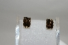 **MBA #78-093   Sterling, Palladium & Vermeil Smokey Quartz Earrings