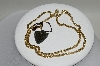 +MBA #78-247  14 Yellow Gold Beverly Hills Gold Heart Necklace