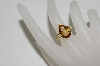 **MBA #78-286     14K Yellow Gold Pear Cut Citrine Ring