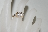 **MBA #78-051  14K Yellow Gold Oval Cut Morganite & Diamond Accent Ring