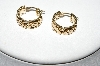 **MBA #78-270  14k Yellow Gold Byzantine Style Hoop Earrings