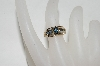 **MBA #78-282  14k Yellow Gold Marquise Cut Blue Sapphire & Diamond Ring