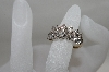 "**MBA #78-037   ""14K Yellow Gold 14 Stone Diamond Ring"