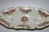 "**MBA #62-226  "" Vintage Made In Prussia Oblong Rose Dish"