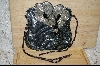 "MBA #HBGM   ""Hand Beaded Gun Metal Matilic Grey Floral Purse"