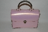 "+MBA #63-184  ""1940's Pink Patent Leather Purse"