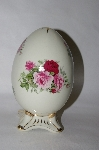 **MBA #79-033   Baum Bros. Formalities Large Pink & Red Rose Egg