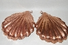 "Set Of 2 Vintage ""Shell"" Copper Molds"