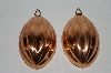 Set Of Two Mellon Shaped Copper Jello  Molds