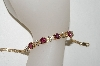 **MBA #79-016  14K Yellow Gold One Of A Kind  Ladies Fancy Cut Pink Tourmaline & Diamond Bracelet