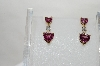 **MBA #79-021  14K Yellow Gold One Of A Kind Pink Heart Cut Tourmaline & Diamond Earrings