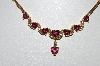 **MBA #79-009  14k Yellow  Gold One Of A Kind  Heart Cut Tourmaline & Diamond Necklace